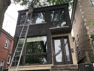 second floor window cleaning